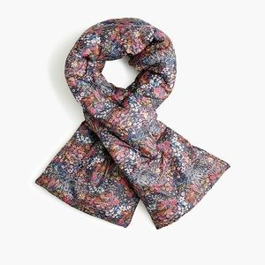 NWT J Crew Puffer Scarf in Liberty Floral Print